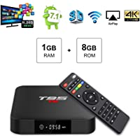 T95 S1 Android 7.1 TV BOX 1GB RAM 8GB ROM Amlogic S905W Quad core cortex-A53 Processor 2.4GHz WIFI H.265 HDMI 2.0 Smart TV Box 100M Ethernet