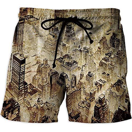 Men's Watershorts,Vintage Halloween,Athletic Shorts Pockets,Happy Halloween -
