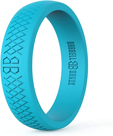 Crossfit WOD Red Silicone Wedding Ring for Women Safe rubber rings Wedding Band Perfect for Active Ladies Birthday Gift Athletes