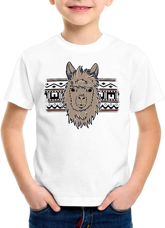 style3 Alpaca Azteca Camiseta para Niños T-Shirt Lama Nerd Hipster Unicornio: Amazon.es: Ropa y accesorios