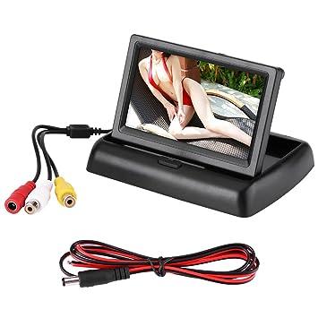 qiilu 4.3 pulgadas plegable TFT LCD HD Digital pantalla Monitor en color de visión trasera para coche cámara de marcha atrás: Amazon.es: Electrónica