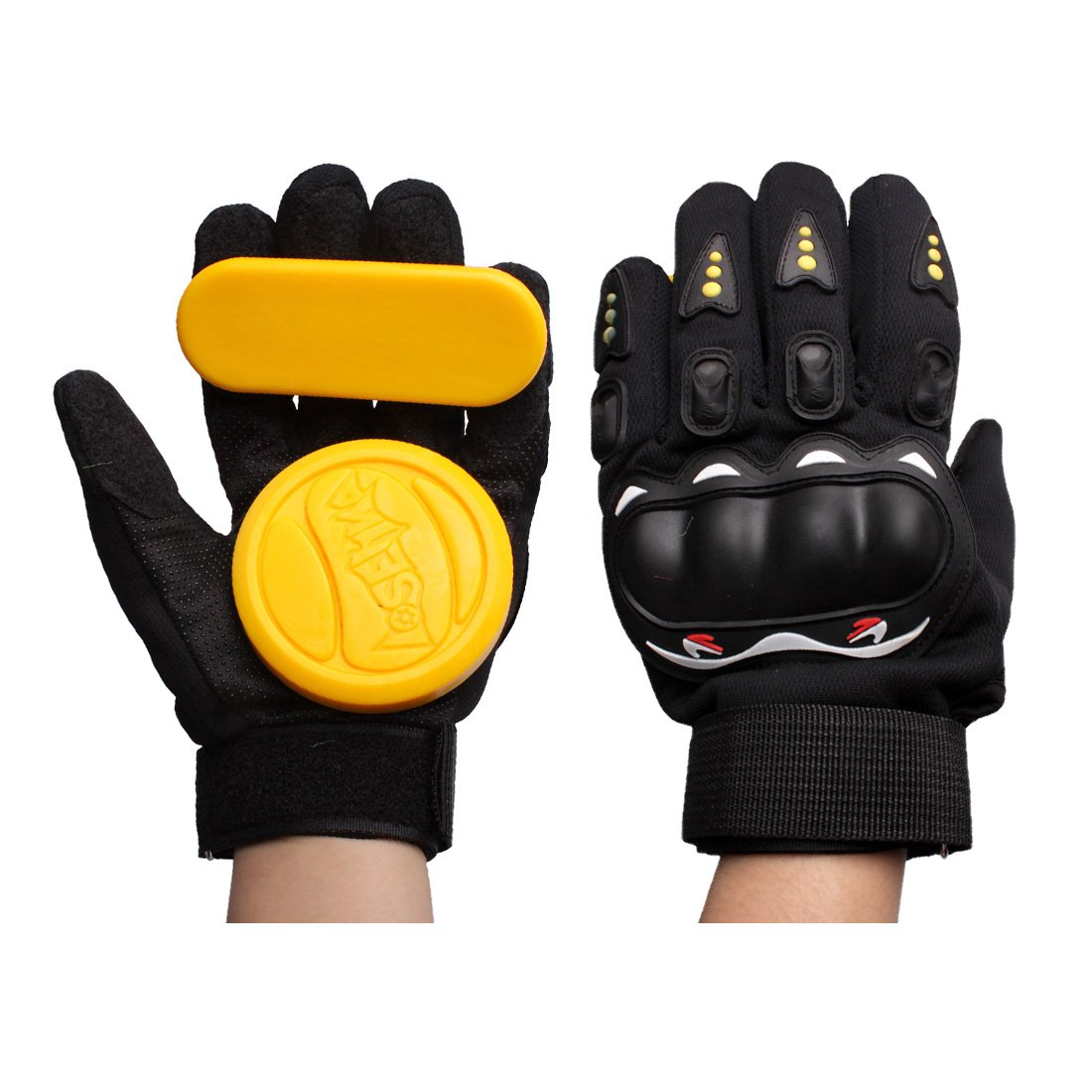 Andux Land Skateboard Slider Slide Glove Yellow HBST-05 by Andux