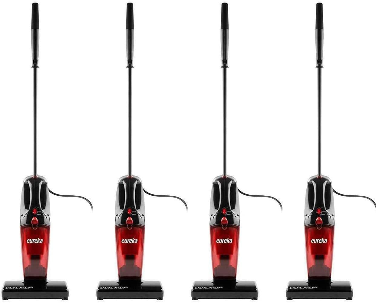 Eureka 169K 2-in-1 Quick-Up Bagless Stick Vacuum Cleaner for Bare Floors and Rugs, 169J+Filter, Light Red (Four Pack)