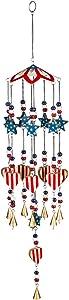 Evergreen Garden Americana Wind Chime - 5 x 5 x 28 Inches