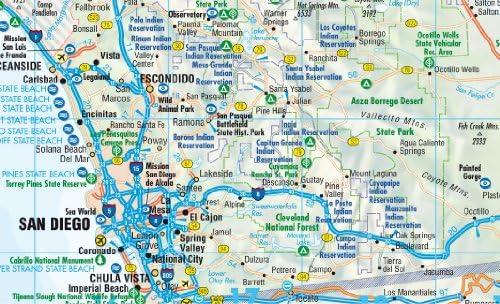 California, mapa de carreteras plastificado. Escala 1:1.200.000. Incluye Yosemite a escala 1:675.000. Borch. B&B Road Maps: Amazon.es: VV.AA.: Libros
