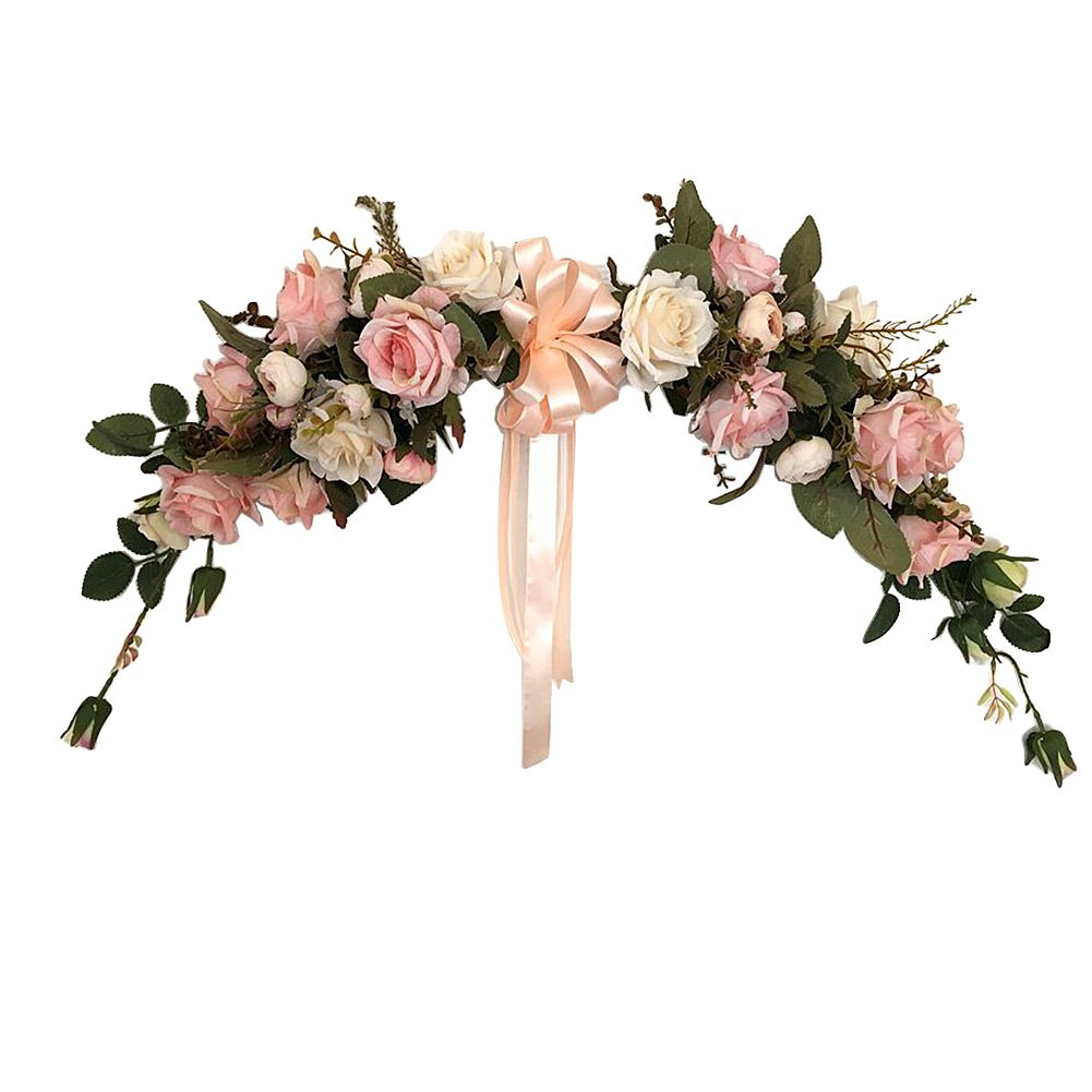 Adeeing Classic Artificial Simulation Flowers for Home Room Garden Lintel Decoration,Pink Peonies by Adeeing