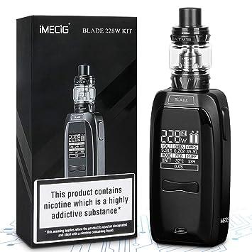 Cigarrillos Electronicos 228W Blade Gran Volumen Mod Vape Sub-Ohm 0.15 Vapeador Relleno Superior Cigarro Electronico Vaporizador Recargable Vaper Sin ...