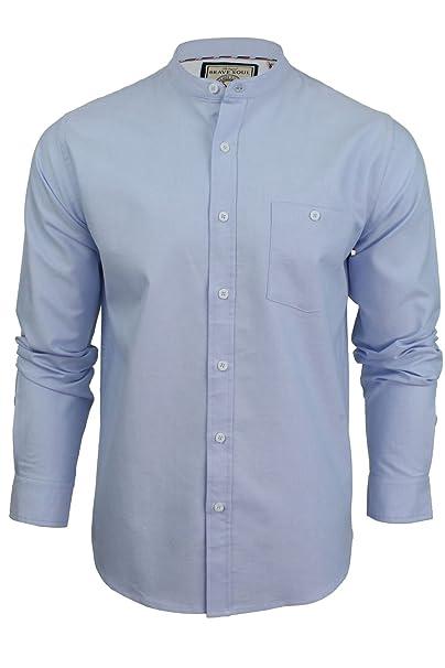 Xact - Camisa casual - Básico - cuello abuelo - Manga Larga - para hombre eJxyEdMnFb