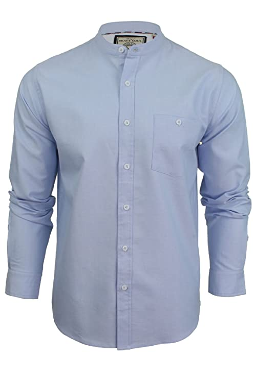Mens Collarless Linen Shirts