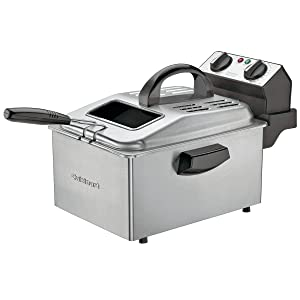Cuisinart DF250 1800-Watt 2-1/5-Pound-Capacity Deep Fryer, Brushed Stainless