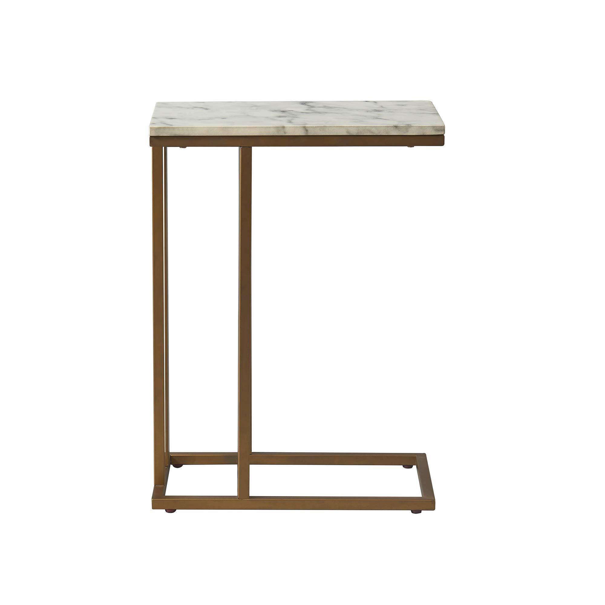 Versanora - Marmo C Shape Table - Faux Marble /Brass by Versanora (Image #11)