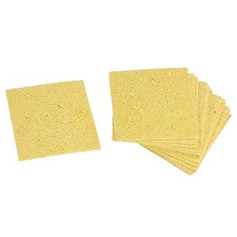 20 pcs sustitución soldador limpieza esponja 60 x 60 x 0,6 mm