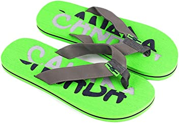 6151f7378 Robin Ruth - Lime   Gray Split Canada Press Men Flip Flop