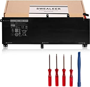 SWEALEER T0TRM Laptop Battery Compatible with Dell XPS 15 9530 Precision M3800 Series Notebook 0H76MY H76MV 07D1WJ 7D1WJ 245RR Y758W [11.1V 61Wh 6Cells T0TRM]