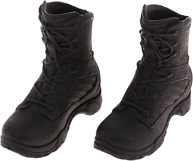 1//6 ASTOYS  AS003 Male Combat Shoe Model Black High Boots Toy Fit 12/'/' Figure