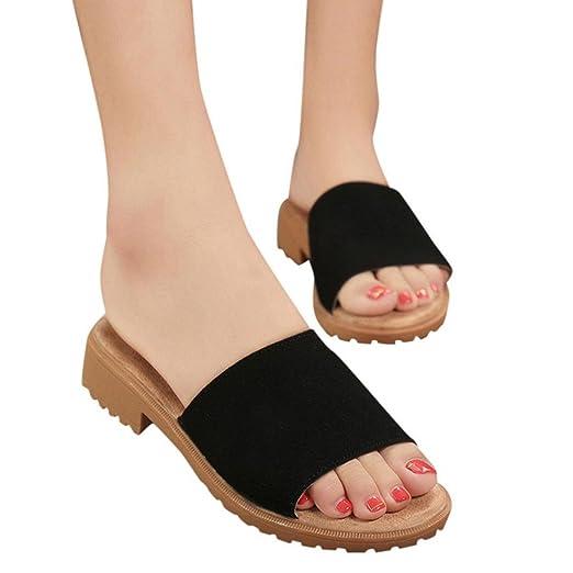 a79cdeb41b469f Creazrise Women s Open Toe Flip Flop Fashion Summer Wedge Slippers Green ( Black