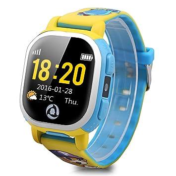 Tencent QQ - Smartwatch Pulsera de Reloj Infantil (Cámara, GPS, LBS, Wifi, Localizador Seguridad de Niños, SOS Llamada, Sim, Android IOS, IP65), ...