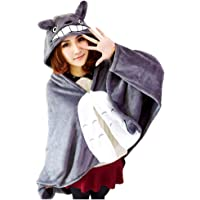 Joyralcos Anime Cosplay Cape Flannel Cloak Daily Nap Quilt Throw Blanket Hooded Coat Poncho