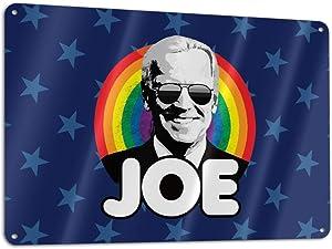 Metal Biden 2020 Sign Tin Art Wall Decor Man Cave Sign Office Decor Bar Drinking Garage Patriotic American Humor