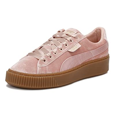 puma schuhe damen basket platform rosa