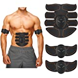 EMS 腹筋ベルト 腹筋トレーニング筋トレマシン2018バージョン8パッド 10段階強度 多機能 8種類モード 超薄型 静音 腹筋 腹筋器具 運動不足に向き 肩こり解消可 筋肉 お腹 腕部 太ももエクササイズ用 男女兼用