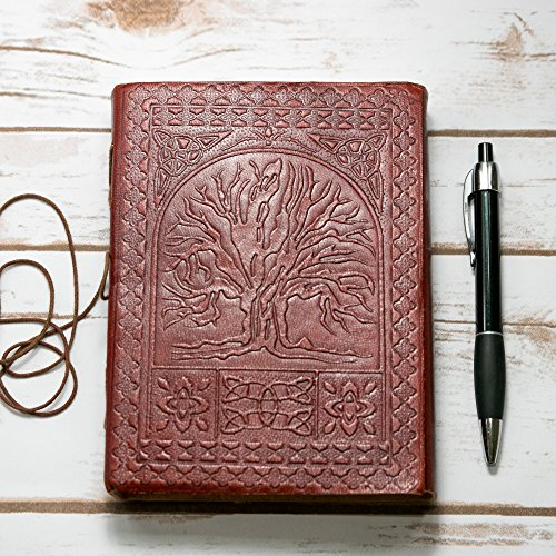 Tree Of Life Handmade Leather Journal - Embossed High Quality Diary
