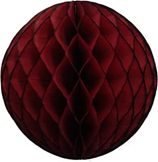 product image for 3-Pack Large 14 Inch Honeycomb Tissue Paper Party Ball Decoration (Maroon)