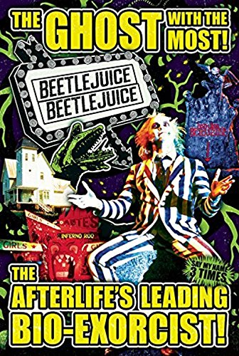 Beetlejuice Michael Keaton Collage 36x24 Art Print Poster Gh