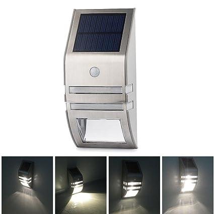 Amzdeal-Reflector LED a energía solar con sensor de movimiento