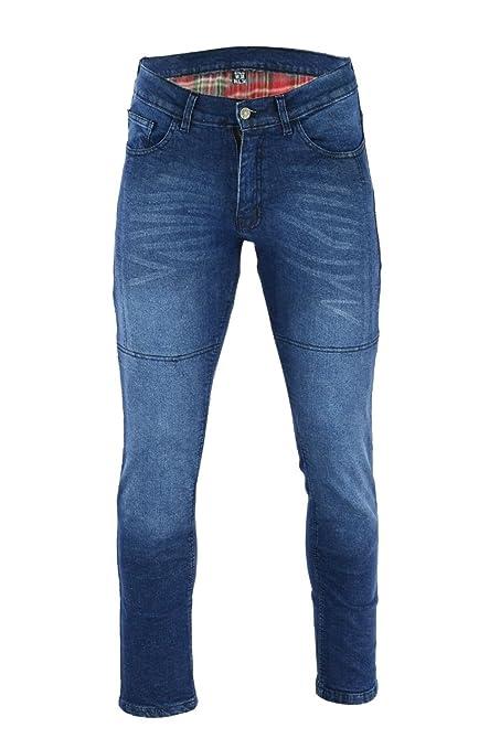 Black Tab 97 Pantalón Vaquero/Denim Jeans AZUL LAVADO Slim Fit forrados con DuPont Kevlar® y Protecciones CE 1621-1 (3XL-R)