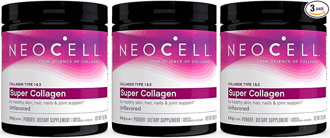 Neocell Super Powder Collagen, Type 1 and 3, 7 Ounce (Pack of 3)