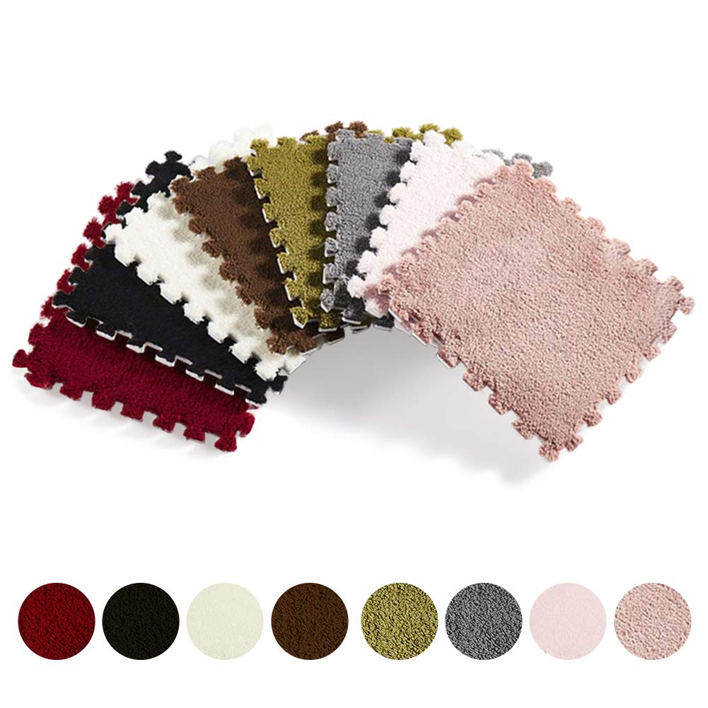 Famyfamy Foam Plush Interlocking Floor Mats Foam Floor Tiles Jigsaw Puzzle Board Portable Stacking Storage Perfect for Floor Protection 1 pcs