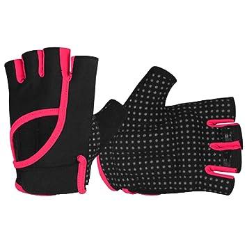 SMK Gimnasio Levantamiento de Pesas Guantes Hombres MujeresHalf Finger Riding Gloves Transpirable Musculación Muñeca Soporte Ejercicio de Entrenamiento ...