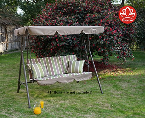 Kozyard Alicia Patio Swing Chair With 3 Comfortable