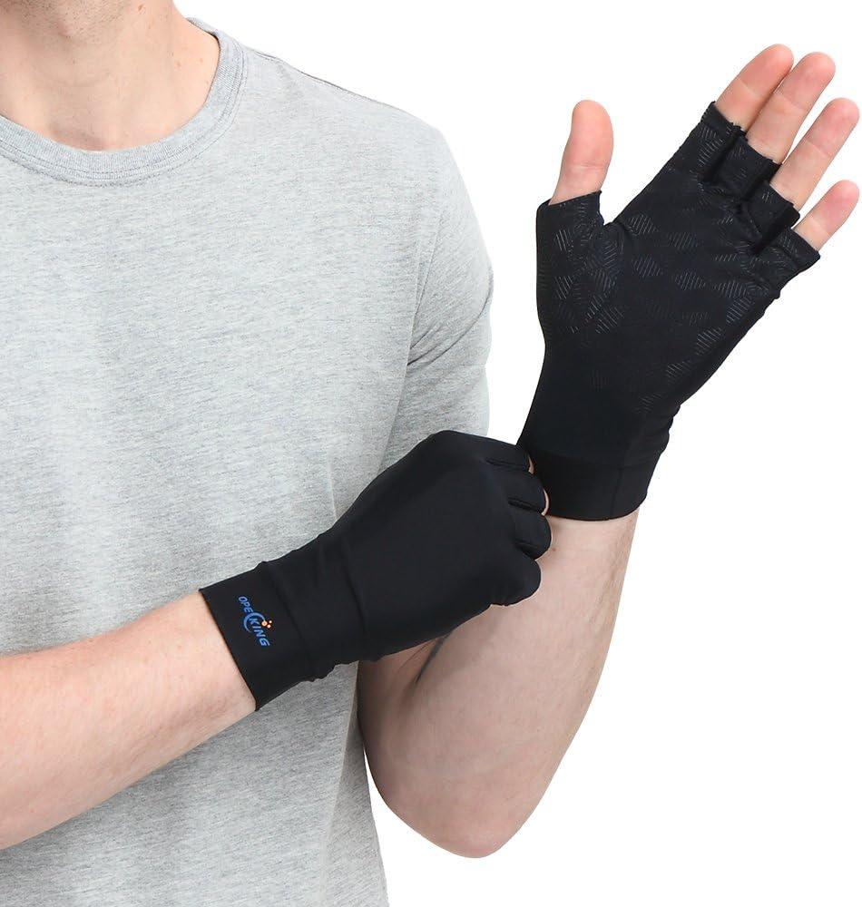 Gants de compression anti-arthrite Cuivre infusé (paire) – Soutien et soulagement des mains GARANTIS (arthrose, syndrome de Raynaud, douleurs du canal carpien)