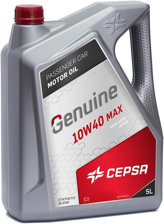 CEPSA GENUINE 10W40 MAX 5L - Lubricante semisintético para vehículos gasolina y diésel