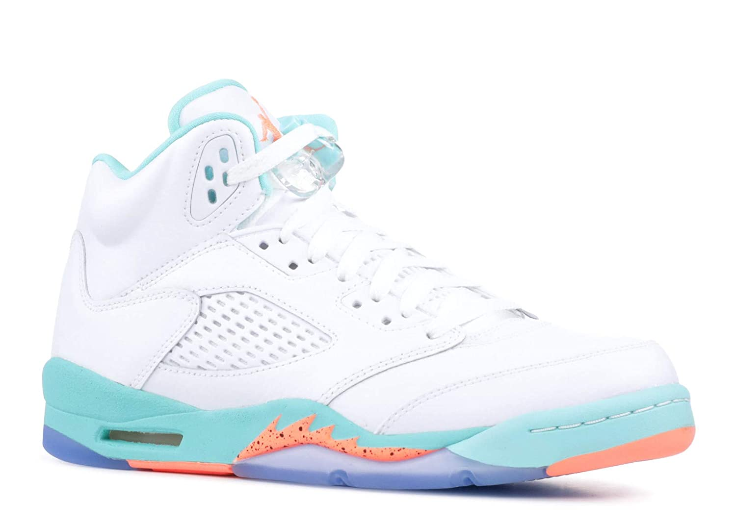 huge discount 9bf93 8ddac Amazon.com   Nike Air Jordan 5 Retro Kids GS White Crimson Pulse-Light Aqua  440892-100   Basketball