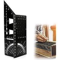 45/90 ° Hoek Meetgereedschap, Aluminiumlegering Vierkante Grootte Maatregel, T-Vorm Houtbewerking Liniaal, Mutifunction…