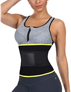 8b51366112 FeelinGirl Women s Waist Cincher Trimmer Sweat Belt Waist Trainer Corset  for Weight Loss
