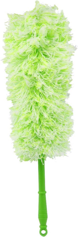 Balai dessuie-Glace avec t/ête Flexible de diff/érentes Couleurs com-four/® Plumeau Chenille 4X avec Chenille 4X 04 pi/èces - Orange//Jaune//Vert//Gris