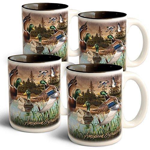 直送商品 American Expedition Mallard Collage Coffee Mugs (4 (4 Collage Set) [並行輸入品] Coffee B072Z73WTR, 山本郡:e04f5cb2 --- movellplanejado.com.br