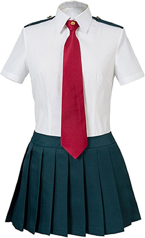 Amazon.com: YuanCos My Hero Academia Boku No Hero Academia Ochako Tsuyu Uniform Cosplay Costume: Clothing