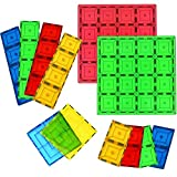 Magnetic Stick N Stack Mega Stablizer Building Plates, 12 Pc Set, 4 Board Sizes