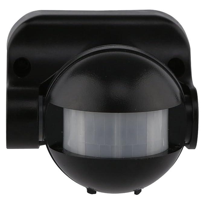 Electraline 58411 Sensor detector de presencia de movimiento, interruptor crepuscular y timer IP44, color negro: Amazon.es: Bricolaje y herramientas