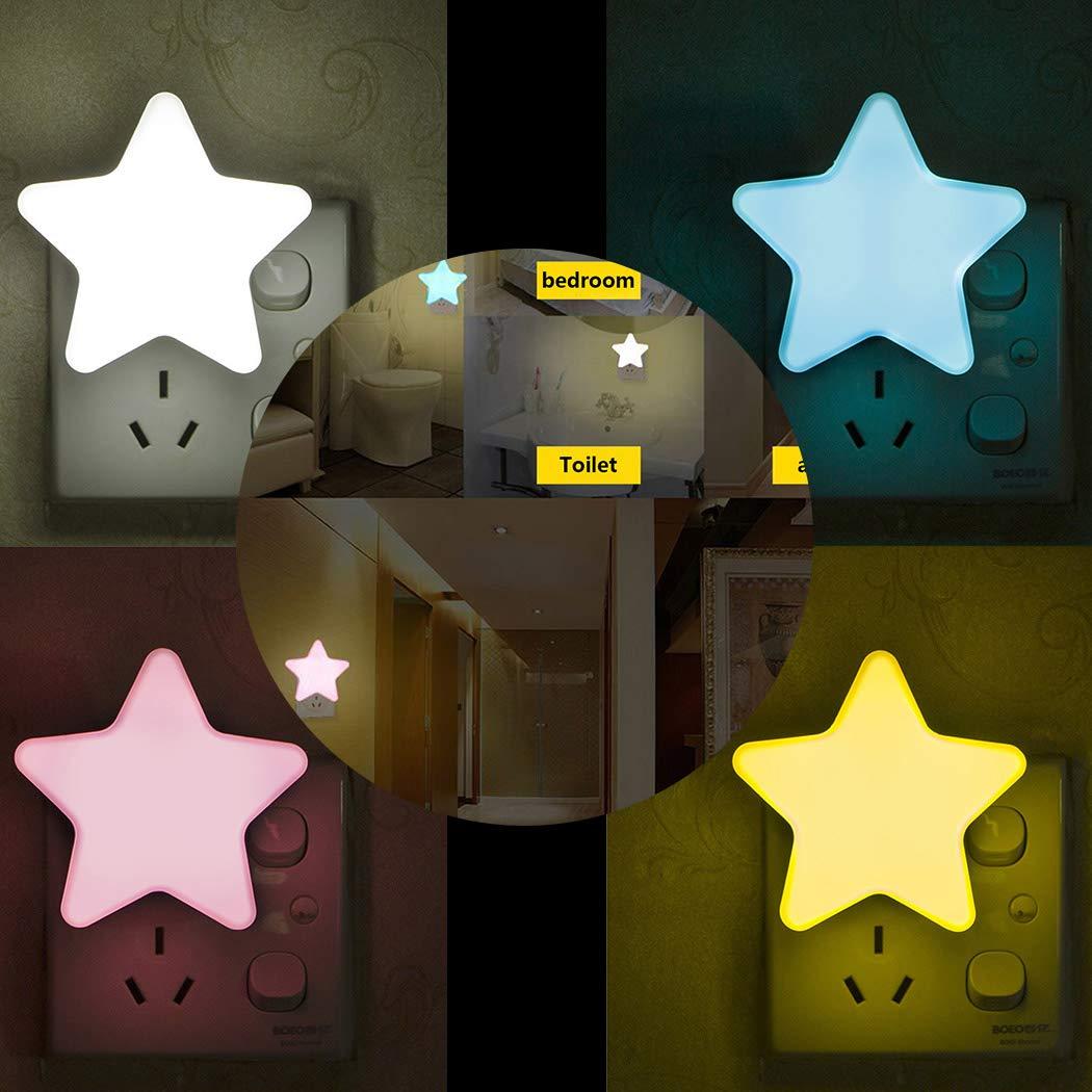 yagot Mini Pentagram Nachtlicht Kreative LED Sensor Lampe Schlafzimmer Wohnaccessoires Nachtlichter