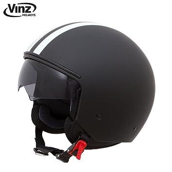 Vinz – Casco para moto tipo roller o jet, tallasXS-XL | casco con