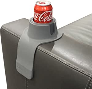 CouchCoaster – The Ultimate Anti-Spill Cup Holder Drink Coaster for Your Sofa (Steel Grey)