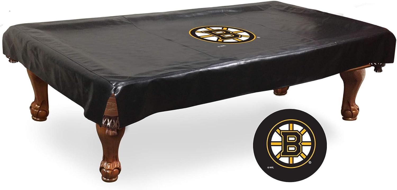 Boston Bruins HBSブラックビニールビリヤードプールテーブルカバー  110\