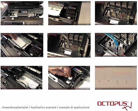 Octopus 250 Ml Dusenreiniger Druckkopfreiniger Kompatibel Fur Epson Druckkopfe Mit Schlauchadapter Kein Oem Amazon De Kuche Haushalt