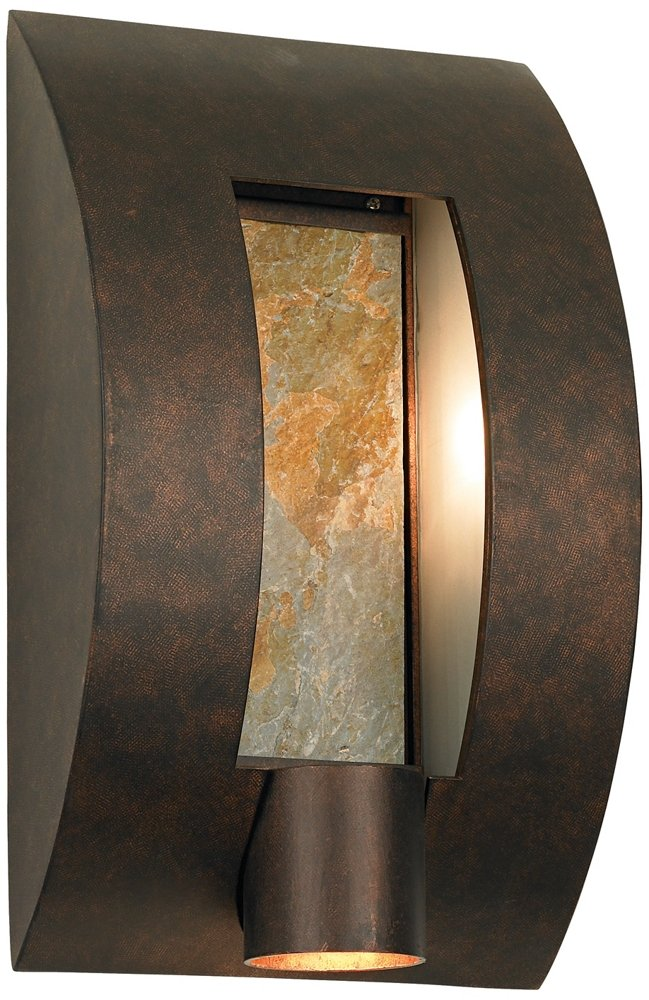 Framed Slate Bronze ADA Compliant 16'' High Wall Light by Franklin Iron Works